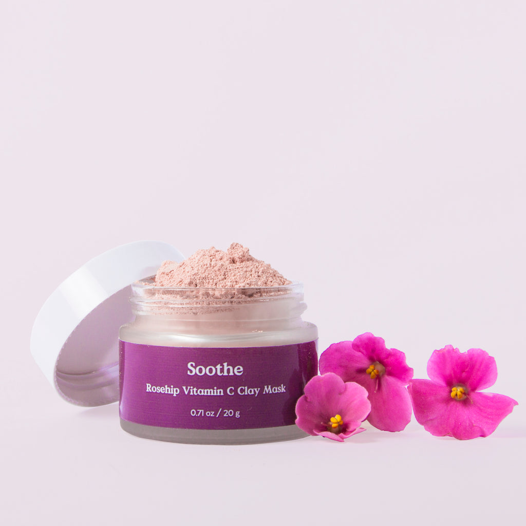 Three Ships - Soothe Rosehip Vitamin C Clay Mask