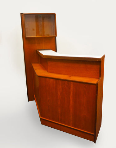 Cool mid-century teak bar