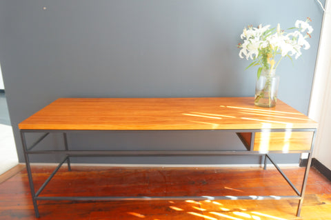 Solid wood hand made display table or bench