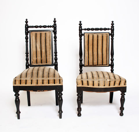 Pair of antique parlour chairs