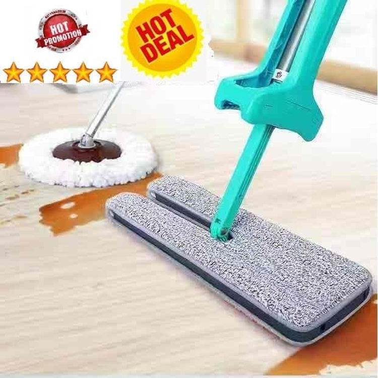 Double Sided Lazy Mop Alat Pel Lantai Dua Sisi