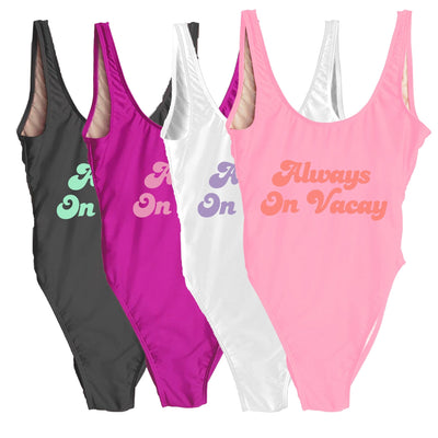 Always On Vacay Swimsuit - Sprinkled With Pink #bachelorette #custom #gifts