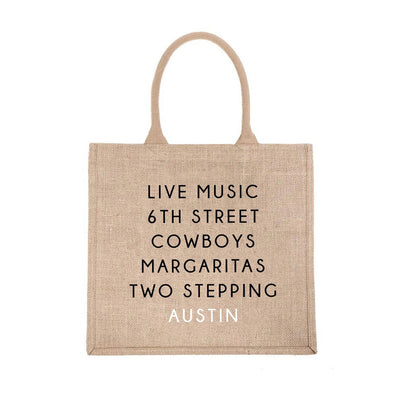 Austin City Jute Carryall