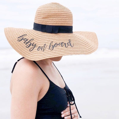 Baby on Board, Floppy Beach Hat - Sprinkled With Pink #bachelorette #custom #gifts