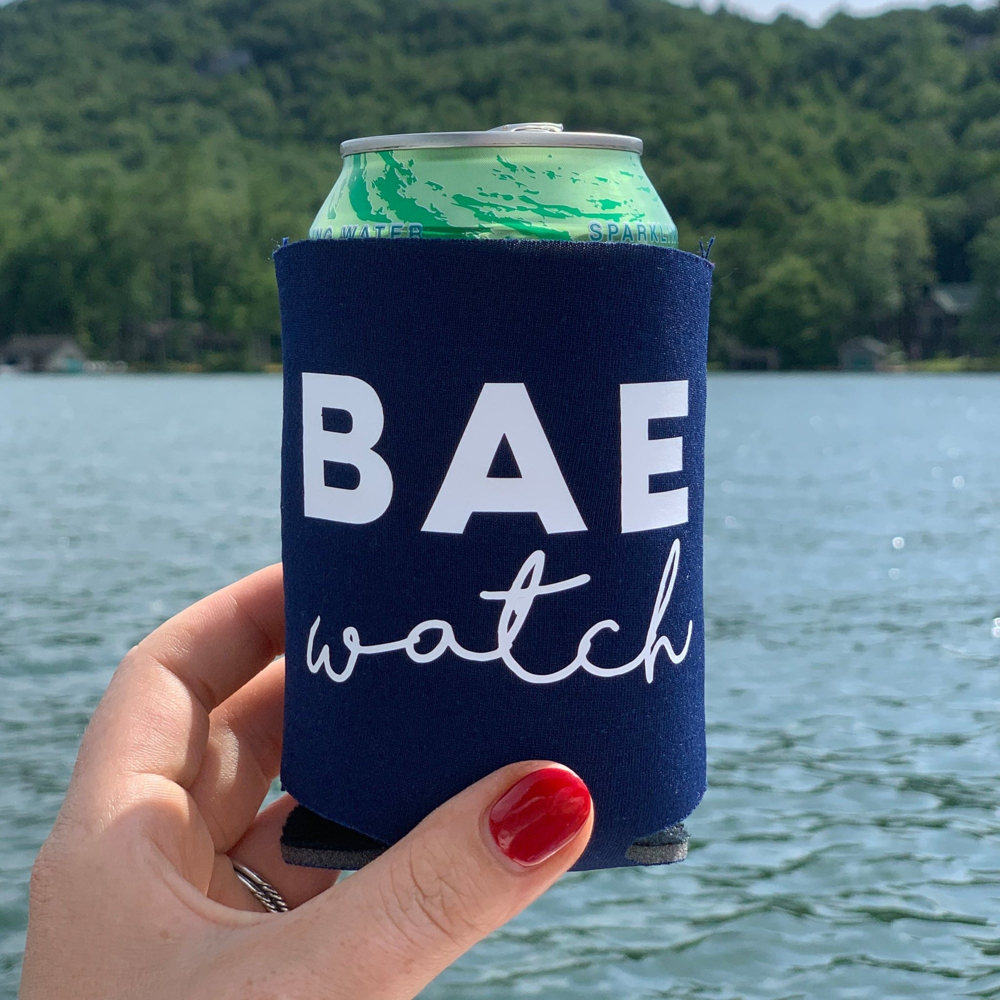 BAE Watch Can Cooler - Sprinkled With Pink #bachelorette #custom #gifts