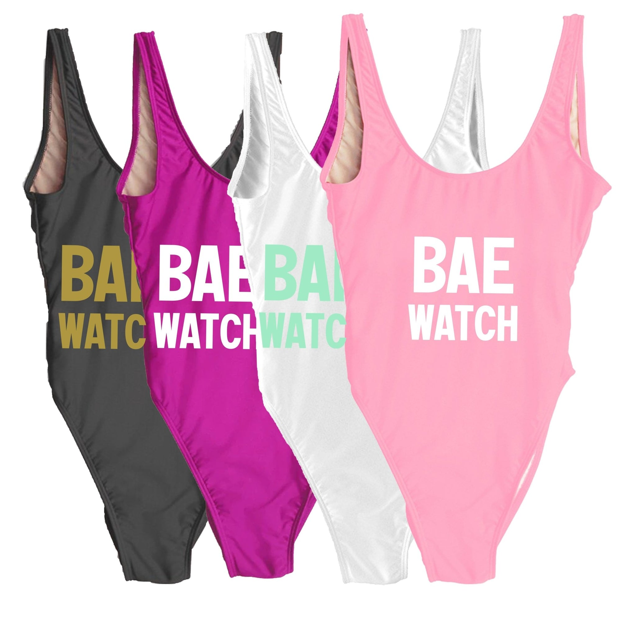 Bae Watch Swimsuit - Sprinkled With Pink #bachelorette #custom #gifts