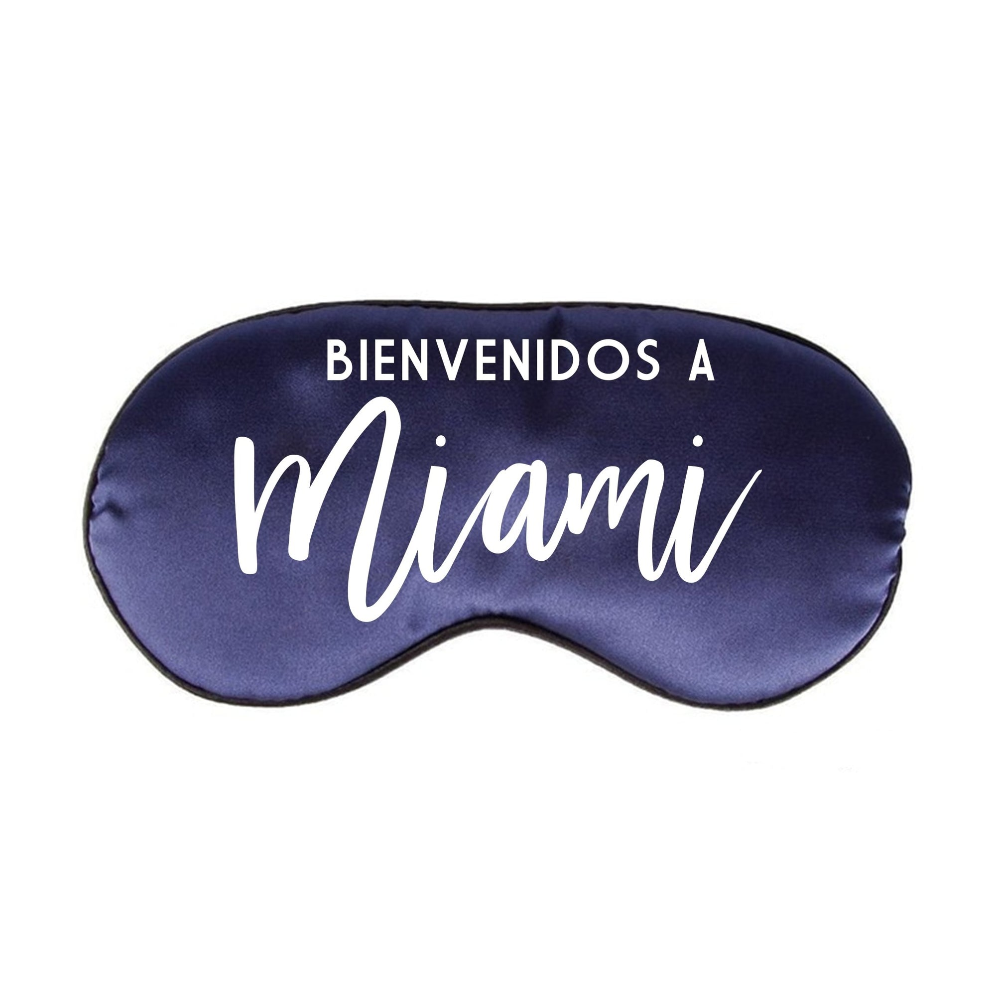 Bienvenidos a Miami Sleep Mask - Sprinkled With Pink #bachelorette #custom #gifts