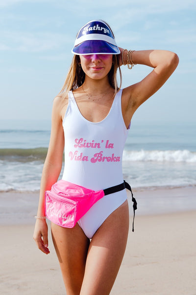 """Blogger"" Swimsuit - Sprinkled With Pink #bachelorette #custom #gifts"