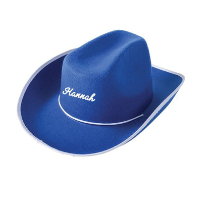 Blue Custom Cowboy Hat