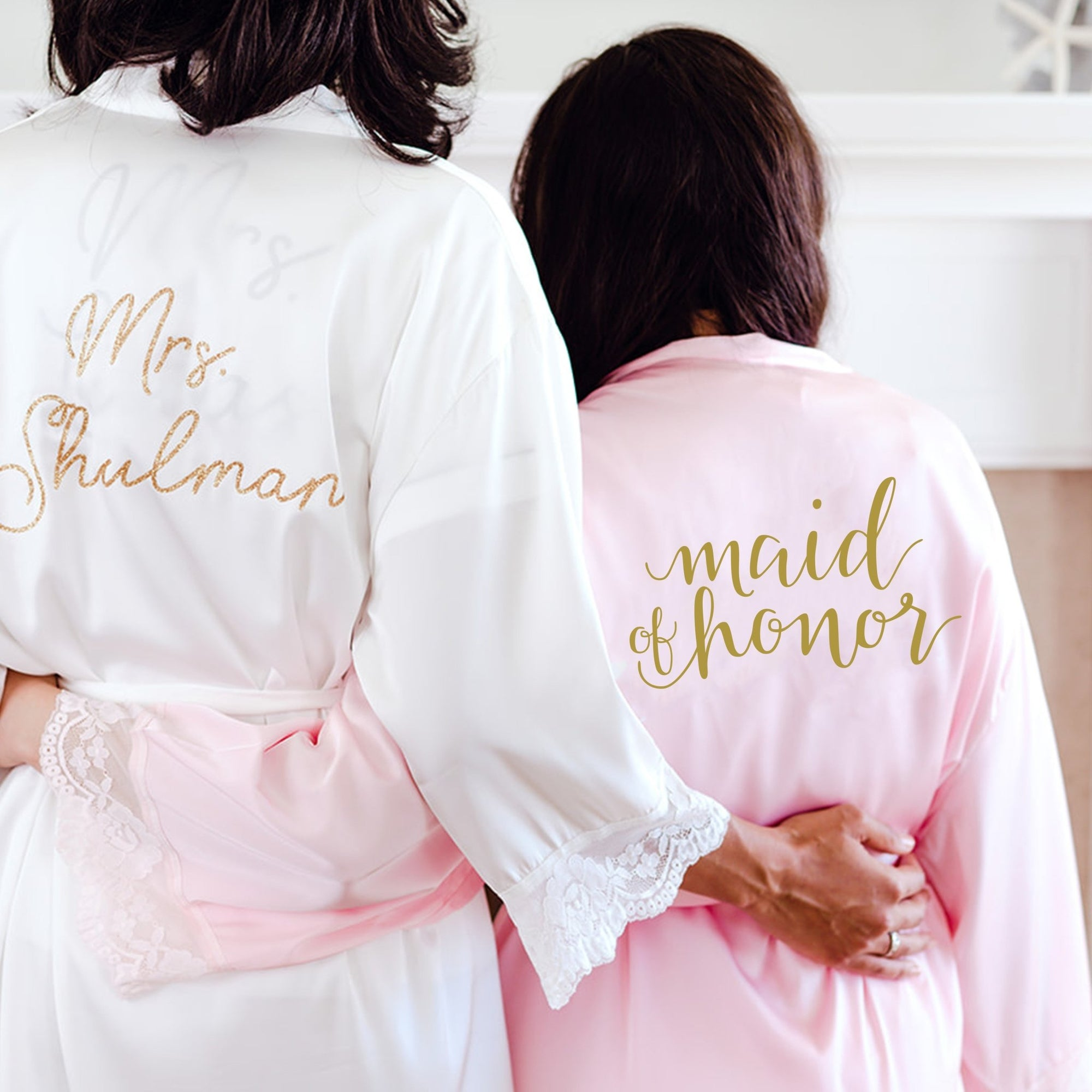 Bridal Party Robe - Sprinkled With Pink #bachelorette #custom #gifts
