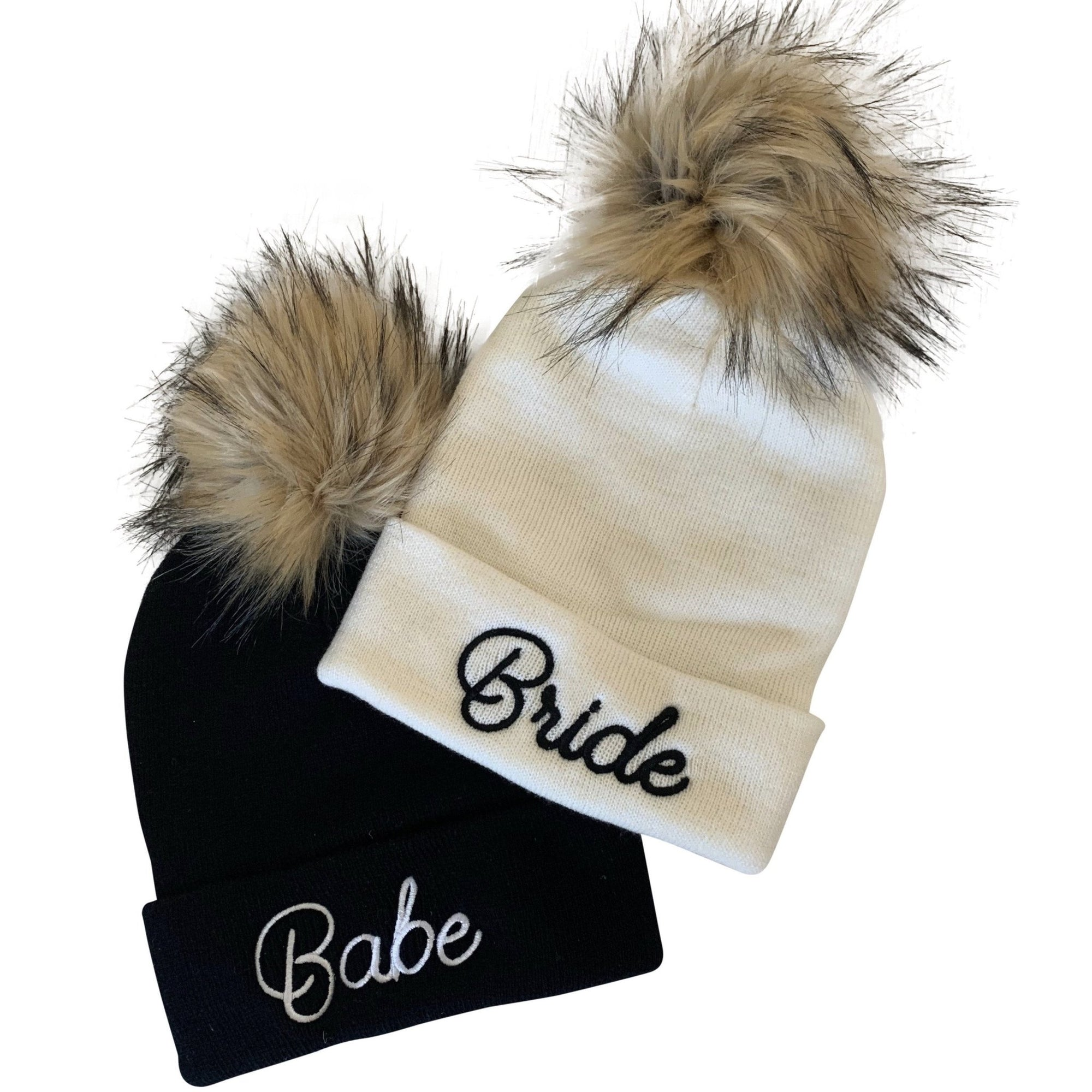 Bride & Babe Beanie - Sprinkled With Pink #bachelorette #custom #gifts
