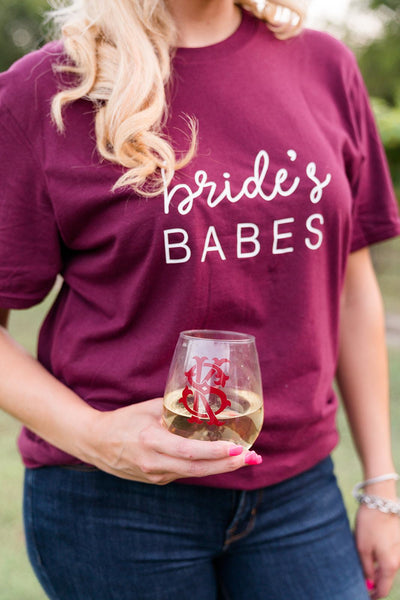Bride & Bride's Babes Shirt - Sprinkled With Pink #bachelorette #custom #gifts