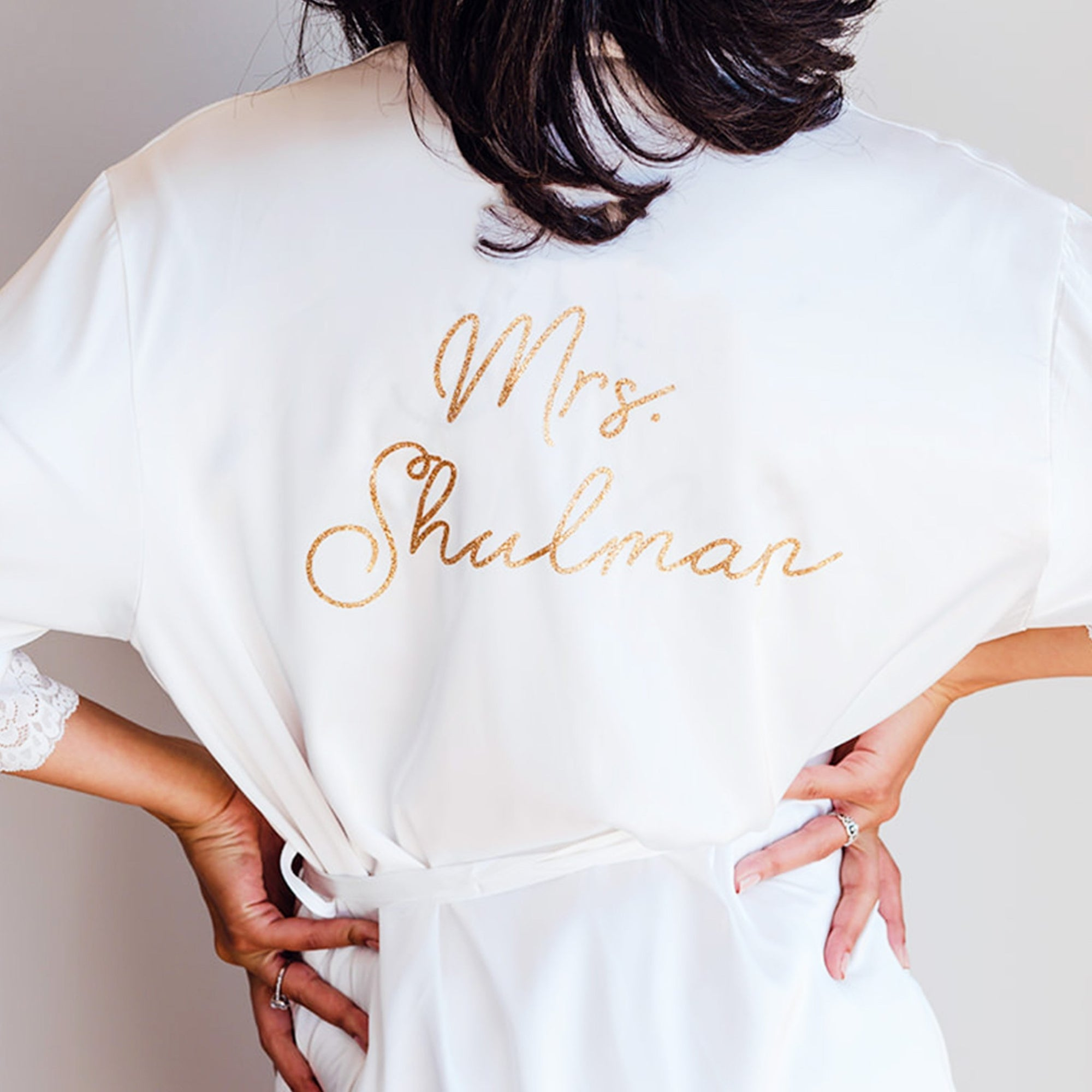 Bride Robe - Sprinkled With Pink #bachelorette #custom #gifts