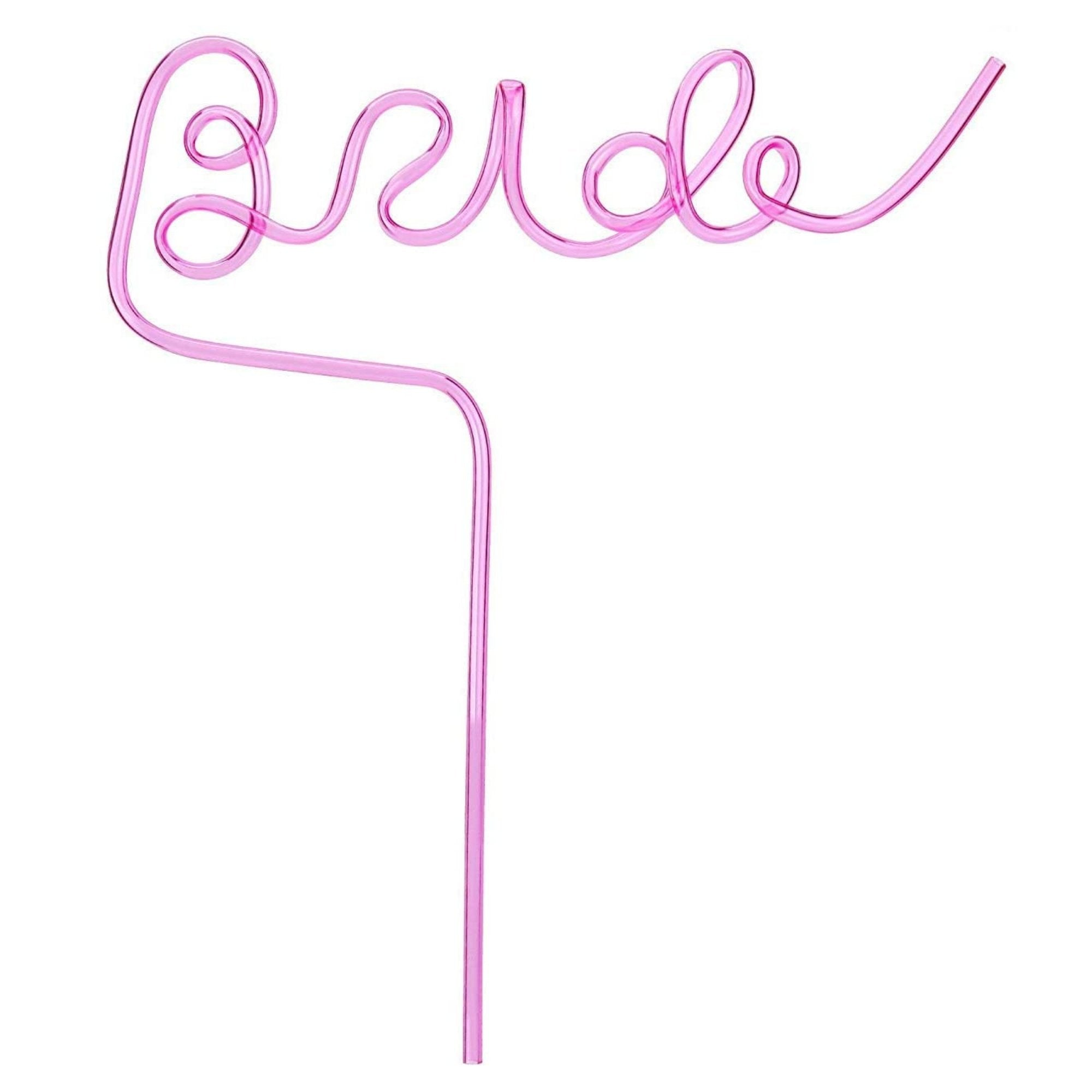 Bride Straw - Sprinkled With Pink #bachelorette #custom #gifts