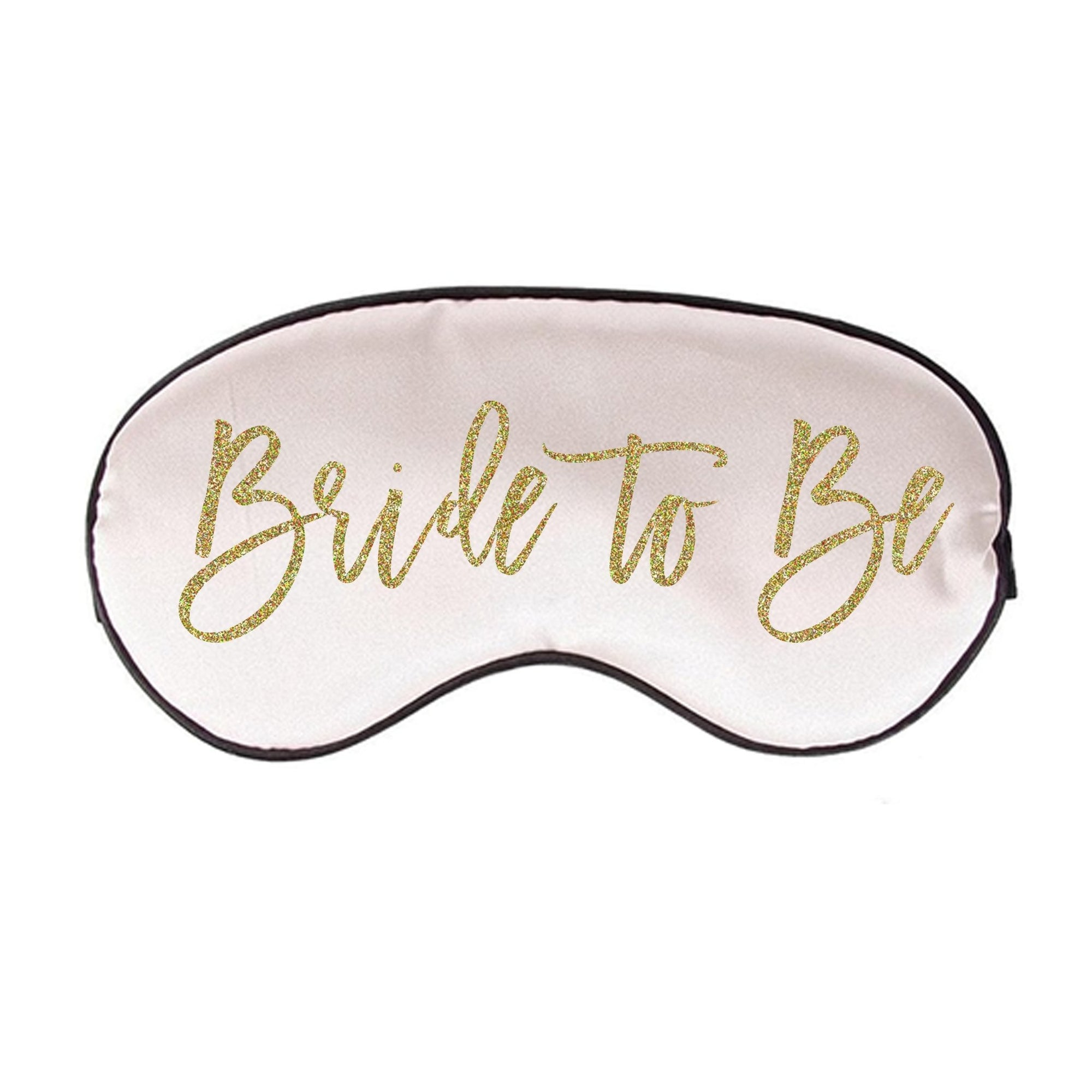 Bride to Be Sleep Mask - Sprinkled With Pink #bachelorette #custom #gifts