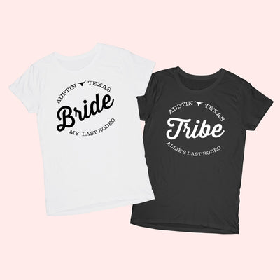 Bride & Tribe Austin Last Rodeo Shirt - Sprinkled With Pink #bachelorette #custom #gifts
