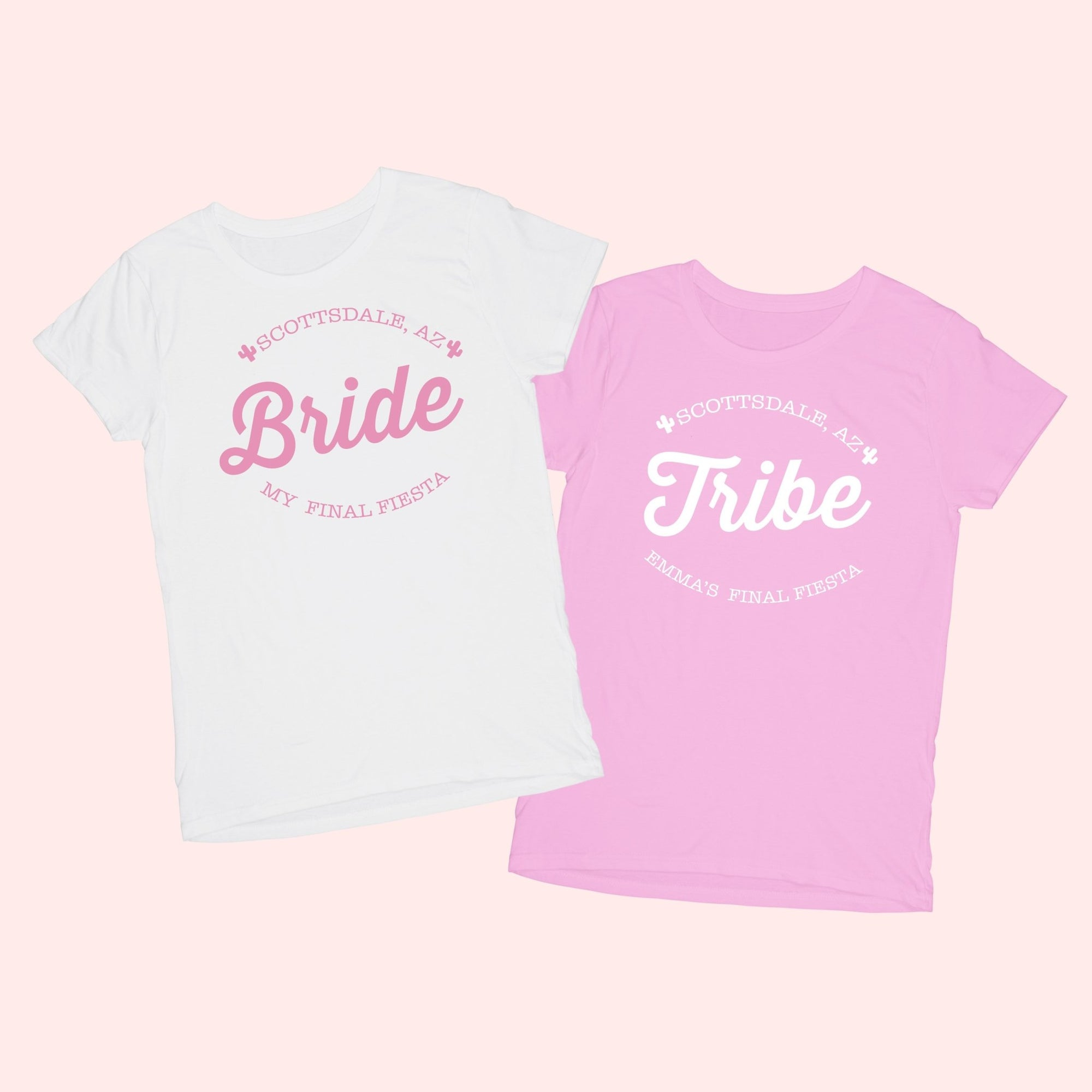Bride & Tribe Scottsdale Final Fiesta Shirt - Sprinkled With Pink #bachelorette #custom #gifts