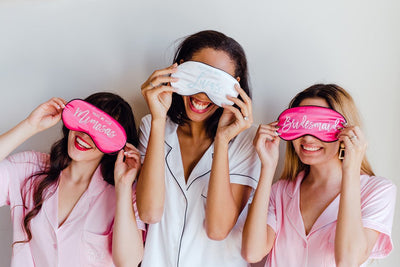Bridesmaid Sleep Mask - Sprinkled With Pink #bachelorette #custom #gifts