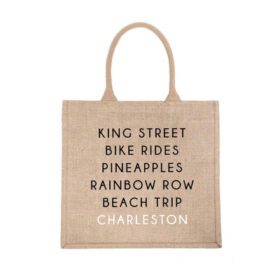Charleston City Jute Carryall