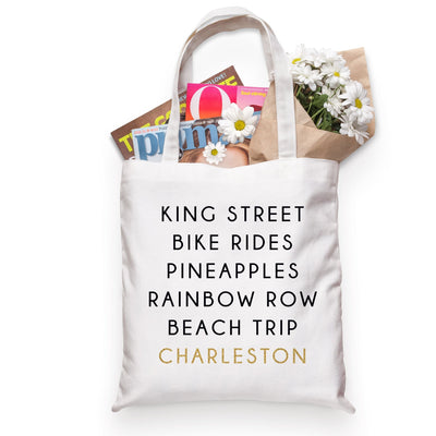 Charleston City Tote - Sprinkled With Pink #bachelorette #custom #gifts