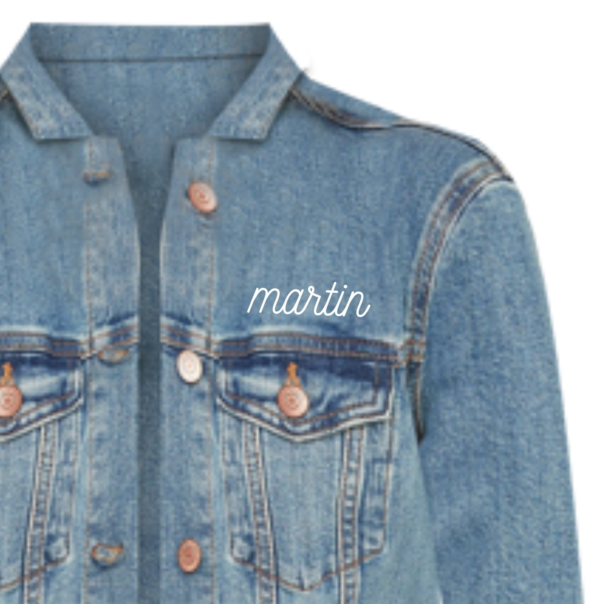 Cursive Pocket Denim Jacket