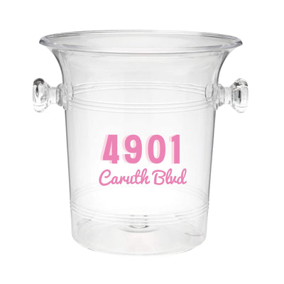 Custom Address Ice Bucket - Sprinkled With Pink #bachelorette #custom #gifts