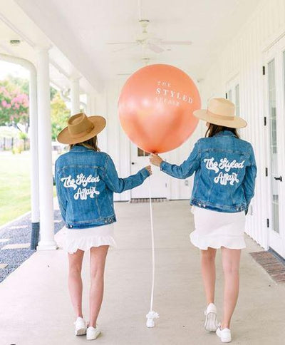 Custom Denim Jacket - Sprinkled With Pink #bachelorette #custom #gifts
