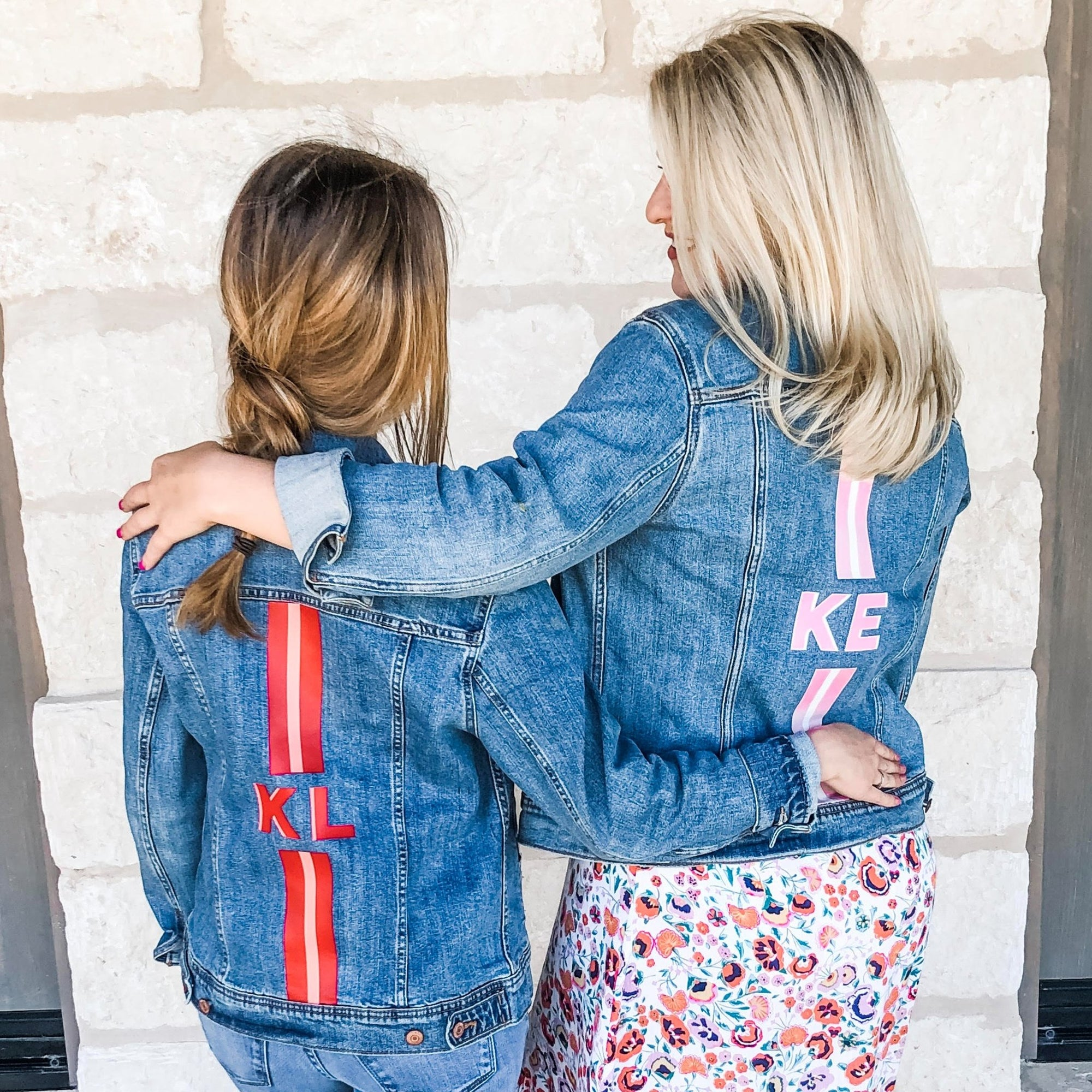 Custom Denim Jacket, Monogram Stripes