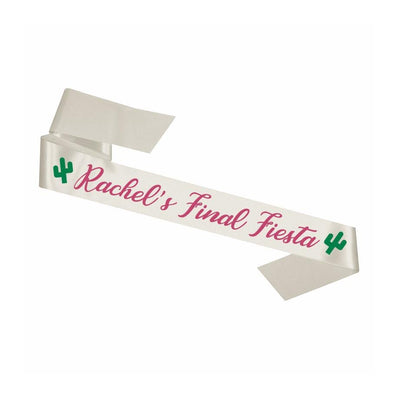 Custom Final Fiesta Sash - Sprinkled With Pink #bachelorette #custom #gifts