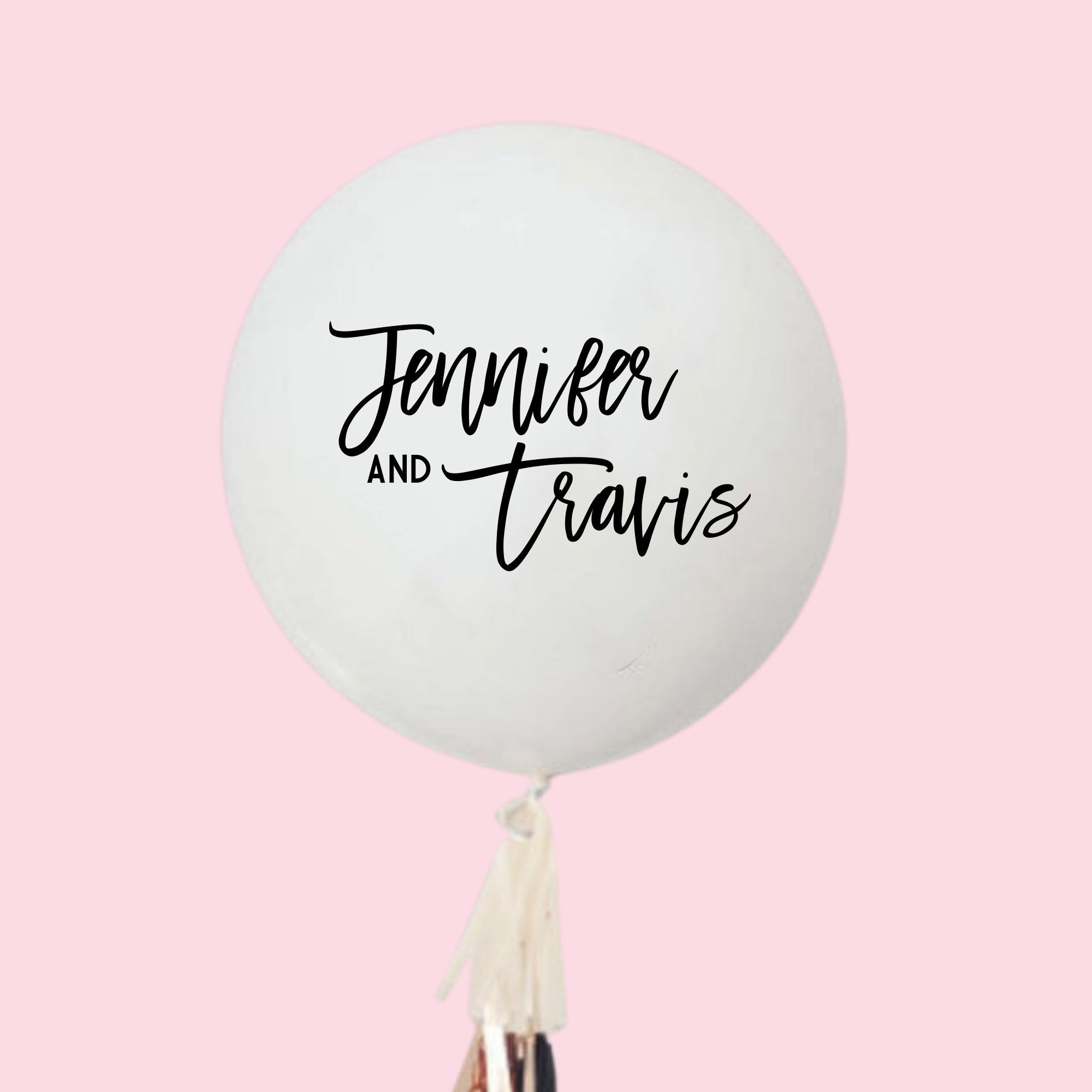 Custom Jumbo Balloon - Couple's Names