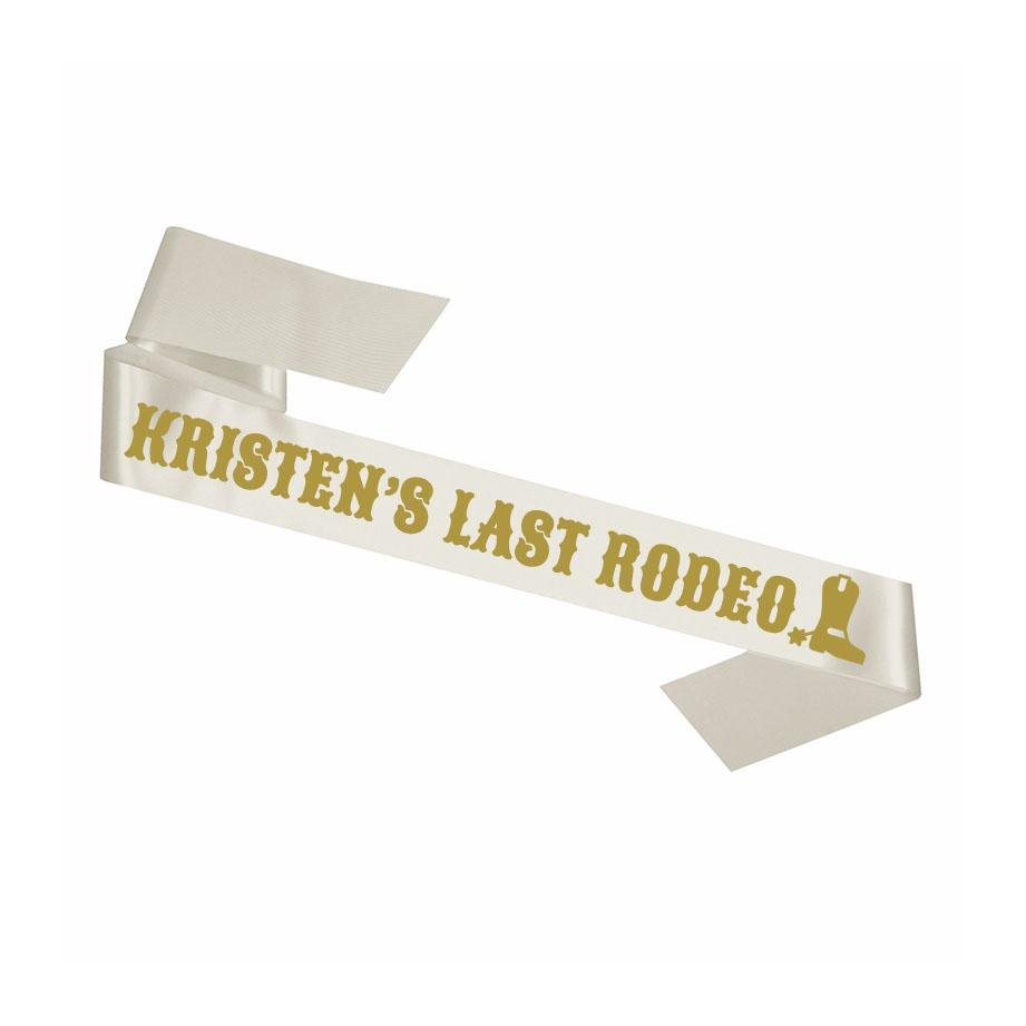 Custom Last Rodeo Sash - Sprinkled With Pink #bachelorette #custom #gifts