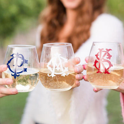 Interlocking Monogram Acrylic Stemless Tumbler