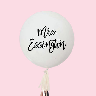 Custom Mrs Jumbo Balloon - Sprinkled With Pink #bachelorette #custom #gifts
