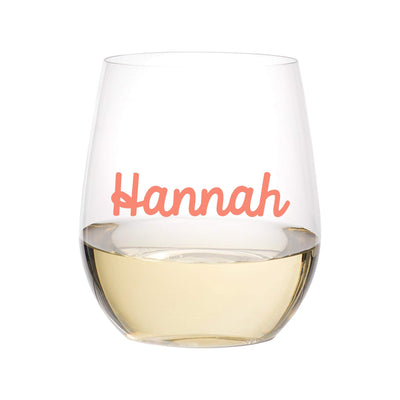 Custom Name Acrylic Stemless Tumbler - Sprinkled With Pink #bachelorette #custom #gifts