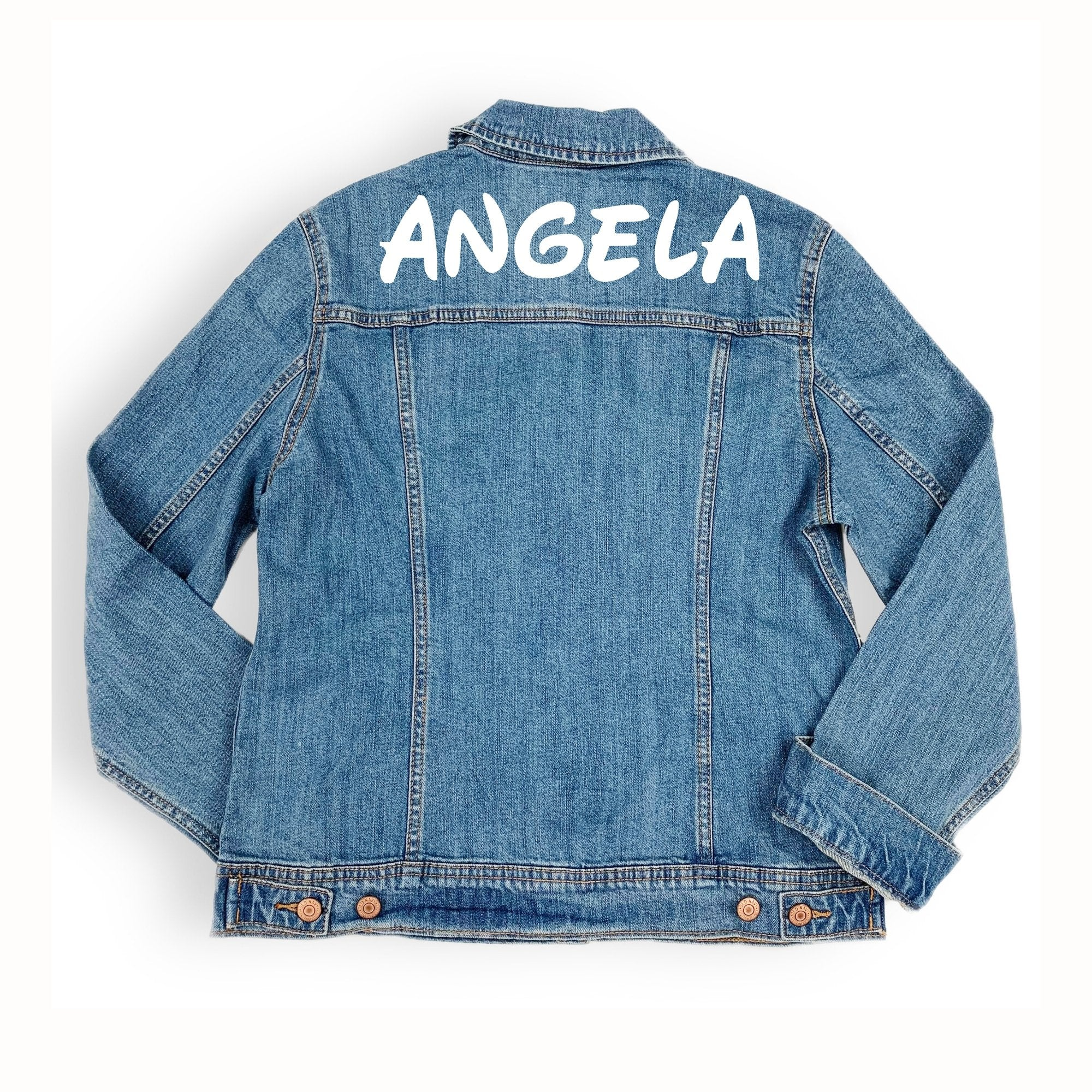 Custom Name Jean Jacket - Sprinkled With Pink #bachelorette #custom #gifts