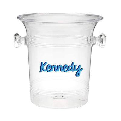 Custom Name Monogram Ice Bucket - Sprinkled With Pink #bachelorette #custom #gifts