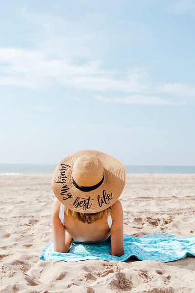 Custom Saying, Floppy Beach Hat