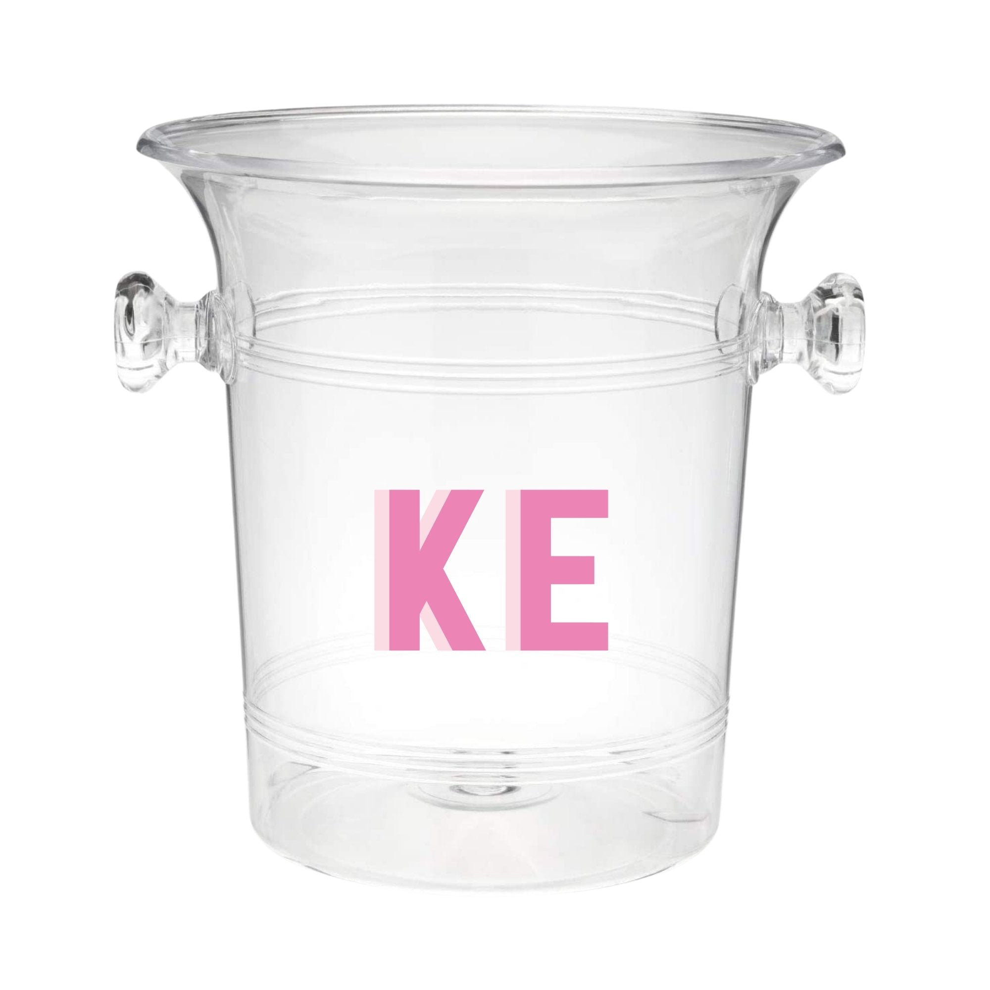 Custom Shadow Monogram Ice Bucket - Sprinkled With Pink #bachelorette #custom #gifts