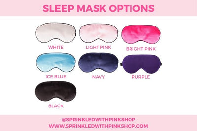 Custom Wake Me For Sleep Mask - Sprinkled With Pink #bachelorette #custom #gifts
