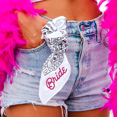 Custom Western Bandana - Sprinkled With Pink #bachelorette #custom #gifts