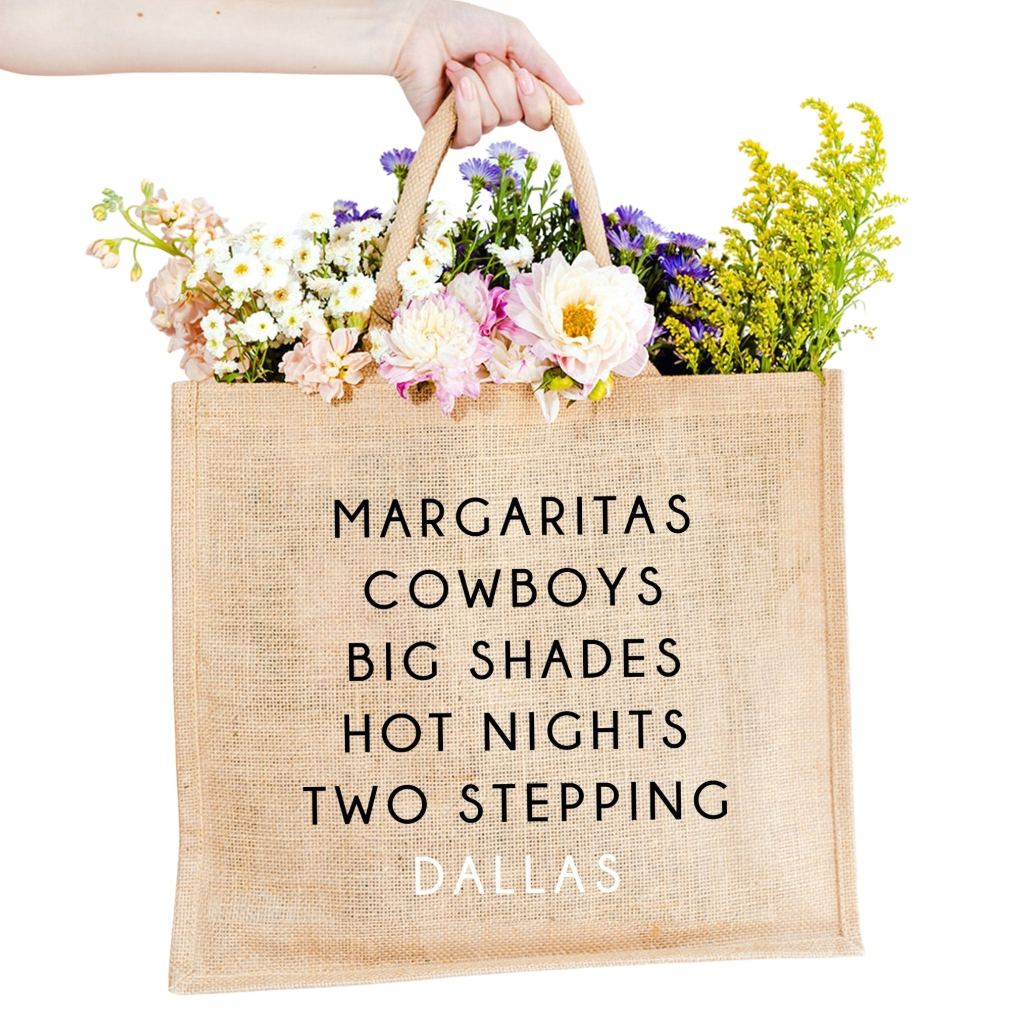 Dallas City Jute Carryall