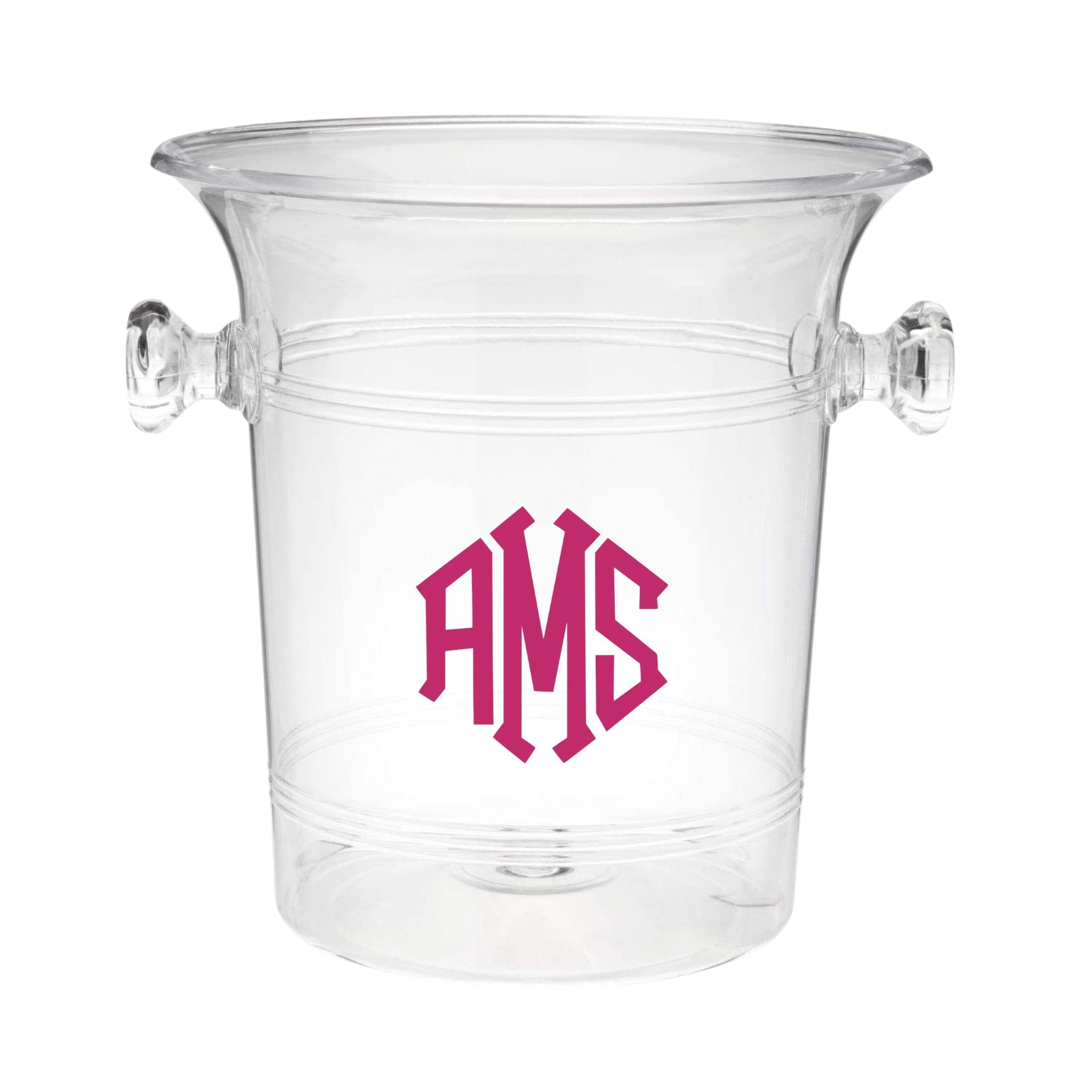 Diamond Monogram Ice Bucket - Sprinkled With Pink #bachelorette #custom #gifts
