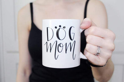Dog Mom Coffee Mug - Sprinkled With Pink #bachelorette #custom #gifts