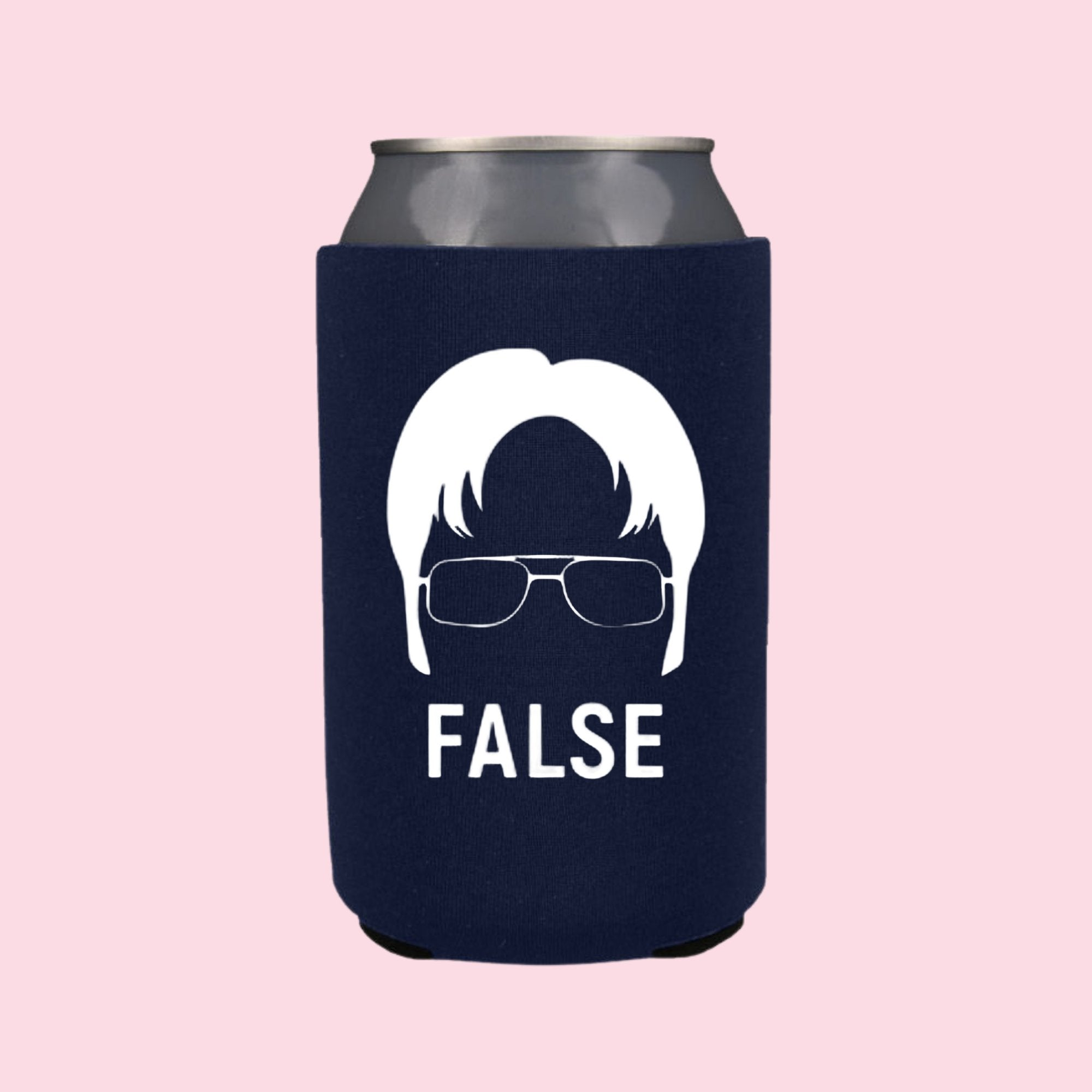 Dwight False Can Cooler - Sprinkled With Pink #bachelorette #custom #gifts