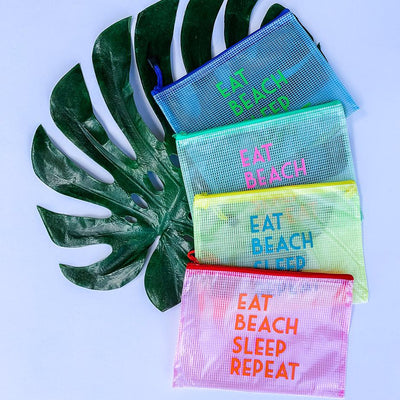 Eat Beach Sleep Repeat Pool Bag - Sprinkled With Pink #bachelorette #custom #gifts