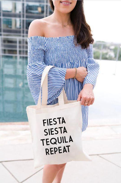 Fiesta Siesta Tequila Repeat - Sprinkled With Pink #bachelorette #custom #gifts