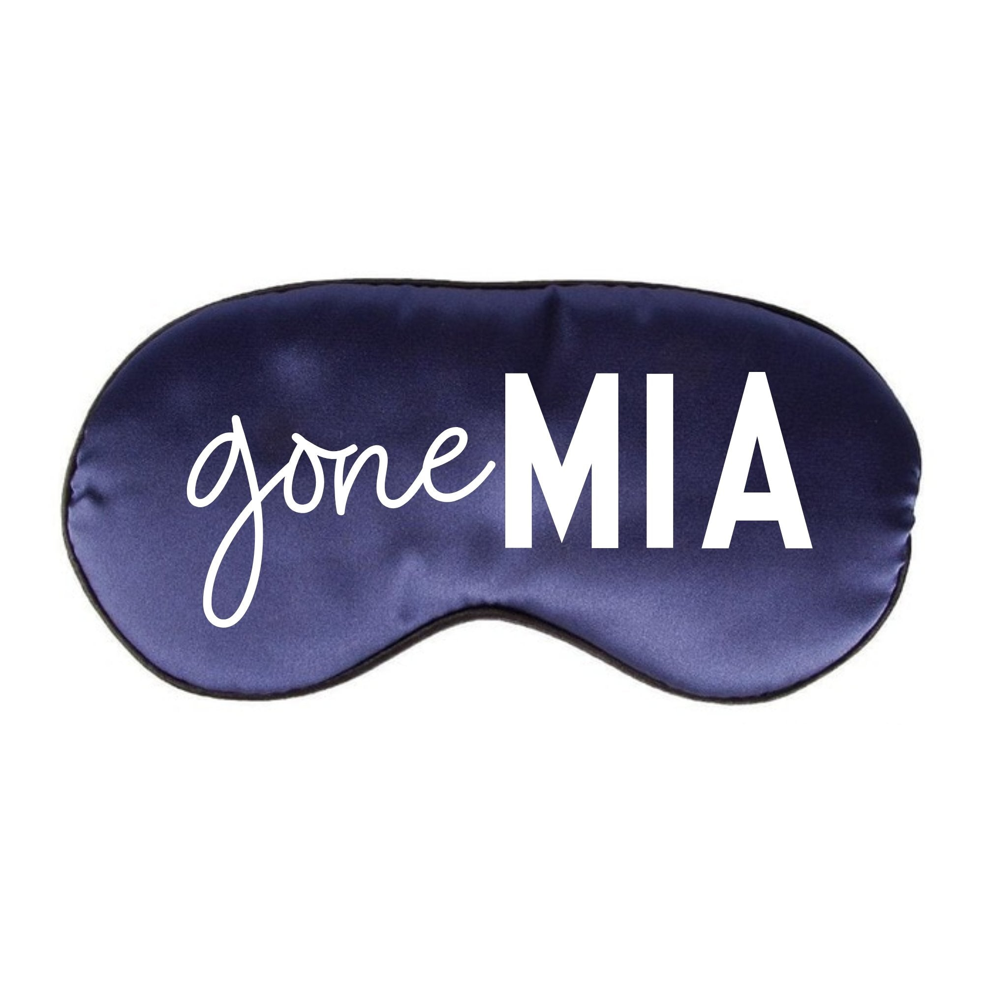 Gone MIA Sleep Mask - Sprinkled With Pink #bachelorette #custom #gifts