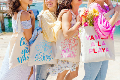 Good Times & Tan Lines Tote - Sprinkled With Pink #bachelorette #custom #gifts