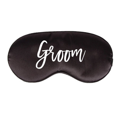 Groom Sleep Mask - Sprinkled With Pink #bachelorette #custom #gifts