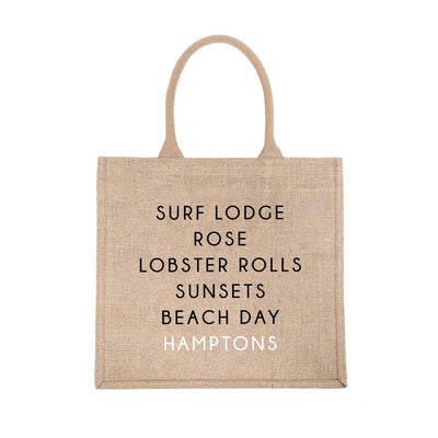 Hamptons City Jute Carryall